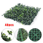 10x10privacy Fence Panel Artificial Boxwood Mat Wall Hedge Decor Washable 48pcs