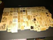 Stampin' Up Lot Of 118 Wood Mount Rubber Stamps Most Never Used