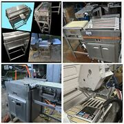 Lot Of 6 Hobart Meat Wrap Station Sealer Conveyor Printer Scale And Console
