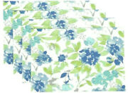 Town And Country In Bloom Placemats Floral Spring Summer Easy Care Set Of 4