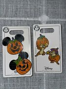 Disney 2021 Halloween Chip And Dale And Mickey Minnie Pumpkins Limited Pins