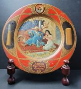 Antique Vienna Art Plates American Ever Ready Co Tin Metal Advertising Plate 10