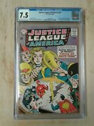 Dc Justice League Of America 29 Cgc 7.5/off White To White Pages 1st Sa Starman
