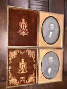 Two Half Plate M.a. Root Daguerreotypes Handsome Men Brothers Pr Same Sitting