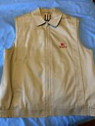 Used Tan Womanandrsquos Vest Logo Size 10 Red Excellent Condition