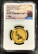 2017-p Australia G100 High Relief Reverse Proof Wedge-tailed Eagle Ngc Pf70