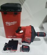 Milwaukee M18 Fuel Drain Cleaning Snake Auger With 5/16 Cable Kit 2772a-21 Aa