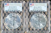2011 Usd 1 2 Troy Oz Silver American Eagle Pcgs Ms70 First Strike Sequential S
