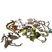 Costume Jewelry Junk Drawer Lot Of Necklaces Frogs Chokers Misc. Pieces