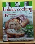 Holiday Cooking With America's Top Chefs Magazine 2006 Menus To Celebrate