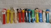 Pez Candy Dispensers Lot Of 13 Santa Claus Truck Bugs Whistle Snoopy Batman