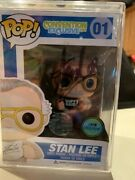 Funko Pop Stan Lee 01 Signed Show Exclusive With Hard Protector