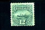 Usastamps Unused Fvf Us 1869 Pictorial Issue S.s. Adriatic Sct 117 Og Mhr +grill