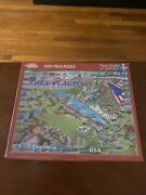 """White Mountain Puzzles Lake Placid"""" 1000 Piece Jigsaw Puzzle - Brand New Sealed"""