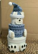 White Bear Stacking Nesting 3 Boxes Christmas Decorations