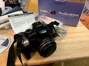 Canon Powershot Sx10 Is Digital Camera 20x Optical Zoom + Usb Cable Rca Cables