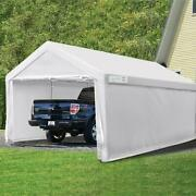 Quictent 10x20ft Heavy Duty Carport Storage Car Shelter Outdoor Garage Shed Us