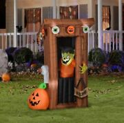 6' Animated Monster In Outhouse Airblown Yard Inflatable Door Opens/closes