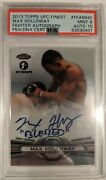 2013 Topps Ufc Finest Max Holloway Fighter 1st Autograph Psa 9 Auto 10 Ffa-mho