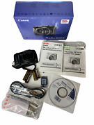 Canon Powershot Sx110 Is 9.0mp 10x Zoom Digital Camera In Box Complete New Works