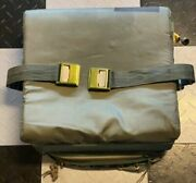 Vintage Md-1 Air Force Ejection Seat Survival Kit Container Contoured W Cushion