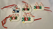 Diy Personalized 5 Christmas Tree Ornaments Family W/masks 5 Total Diy New
