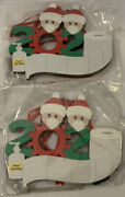 Diy Personalized Christmas Tree Ornaments 2 Family W/masks Total 8 Ornaments New