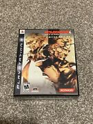 Metal Gear Solid 4 Guns Of The Patriots Limited Edition Playstation 3 Ps3 Mgs4