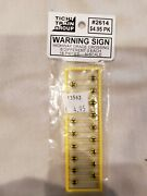 N Scale Tichy Train Group 2614 Warning Sign Highway Grade Crossing 6 Different