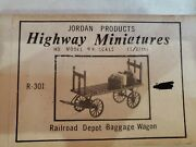Ho Scale Baggage Wagon Jordan Products Highway Miniatures R-301.