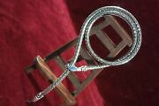 Vintage Antique Whiting And Davis Silver Metal Snake Necklace Belt Jewelry