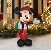 🎄disney 5 Ft. Christmas Mickey Mouse Airblown Inflatable Gemmy Yard Decoration
