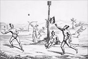 Indians Of Florida Exercices Young Warriors - Engraving From 19th Century