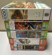 Puzzles Lot Of 5 300-1000 Pc Charles Wysocki Guido Borelli Ceaco Nature New