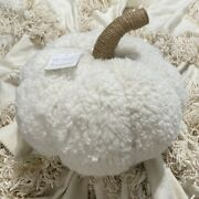 Nwt Pottery Barn Cozy Pumpkin Pillow Ivory White In Hand Sold Out Fall Halloween