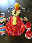 Vintage Cabbage Patch Kids Clown Costume W/ Hat Shoes Ruffle, Tights