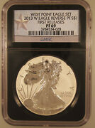 2013-w 1 Silver American Eagle Set Pr-69/sp-69 First Releases Ngc Certified