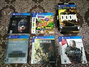 Lot Of 5 Playstation 4 Ps4 Slipcovers Only And Doom Best Buy Uac Bundle Box
