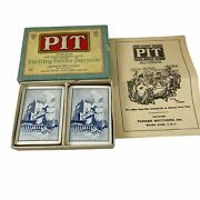 Pit Trading Card Game With Bull And Bear Vintage 1919 Parker Brothers Complete