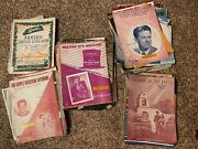 Large Lot Of Very Old Sheet Music More Than 90 Pieces With Books 1912 To 1949