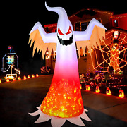 Halloween Inflatable Ghost Blow Up Yard Spooky Led Light Holiday Decoration 8 Ft
