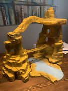 Marx Mountain And Rock Terrain From 1970's One Million Bc Playset 5 Piece Set