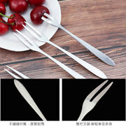 Stainless Steel Fruit Fork West Cutlery Small Fork Two Tooth Fork Dessert Cake