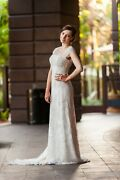 Anne Barge. Wedding Dress. The Audrey Dress. 2012. Cream/ivory. Capped Sleeves