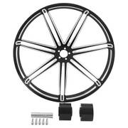 18/21/23/26/30and039and039 Front Wheel Rim Hub Dual Disc Fit For Harley Touring 2008-2021