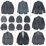 Lot 15 Mens Blazers Size Mixed Suit Jackets Sportscoats Bundle Pinstripe Solid