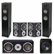 Klh Concord 5.1 Complete System Black With Klh Stratton 12 Powered Subwoofer -