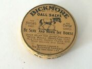 Bickmore Gall Vintage Salve Sample Size Yellow Tin Horse Cattle About 2 Wide