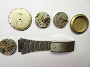 Longines 22l 10l Watch Parts Includes Dial Movements And Band Parts For Repairs