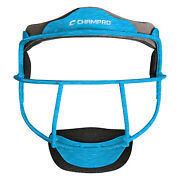 Champro The Grill Heather Softball Fielders Mask - Blue - Adult